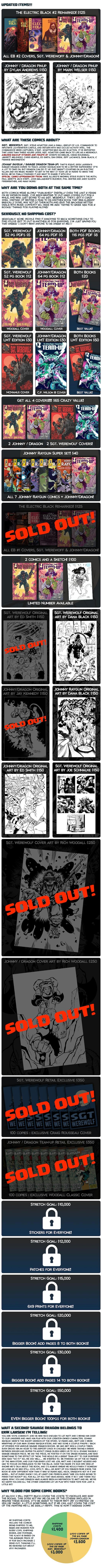Savage Dragon/Johnny Raygun & Sgt  Werewolf Comic Books! by Rich