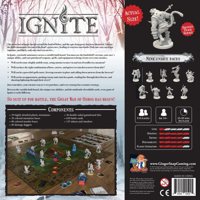 Ignite - Tabletop Miniatures Boardgame by Ginger Snap Gaming