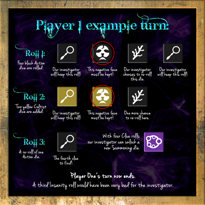 (Note that character cards are not used in the example of basic gameplay)