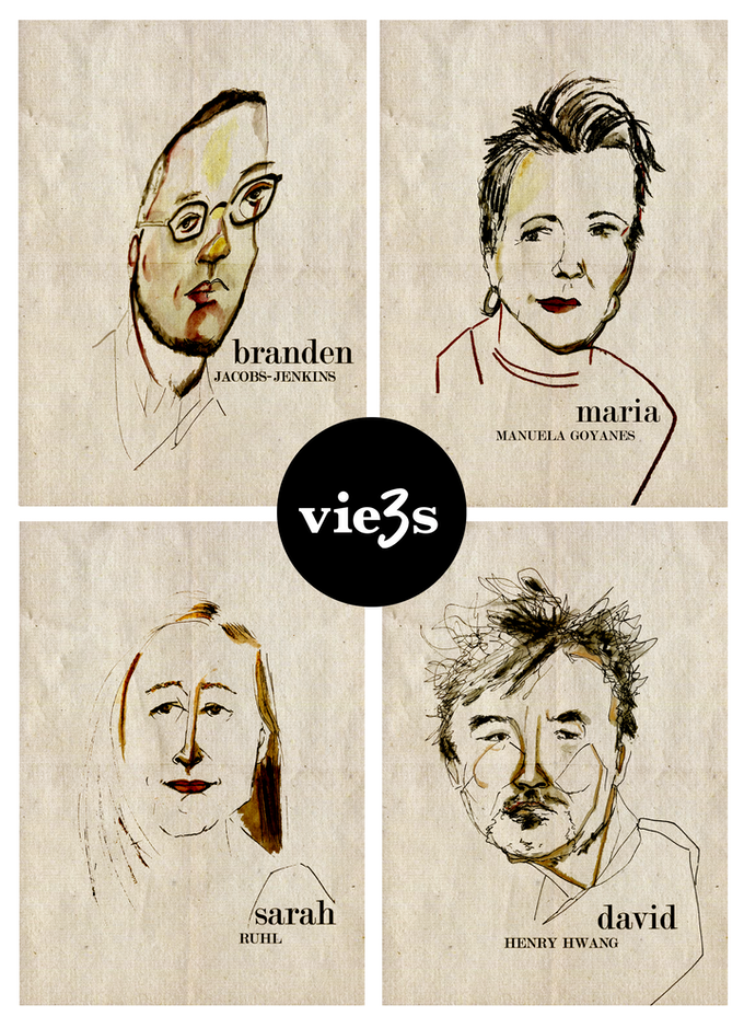 Four members from 3View's founding circle, illustrated by our Resident Artist Michelle Memran