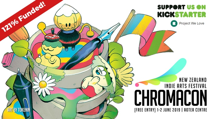 Support Chromacon 2019 to remain free and receive exclusive Art Book, Enamel Pin, T-Shirt, Limited Edition Prints, Original Art & more!