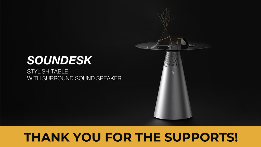 Soundesk, Stylish Table With Surround Sound Speaker project video thumbnail