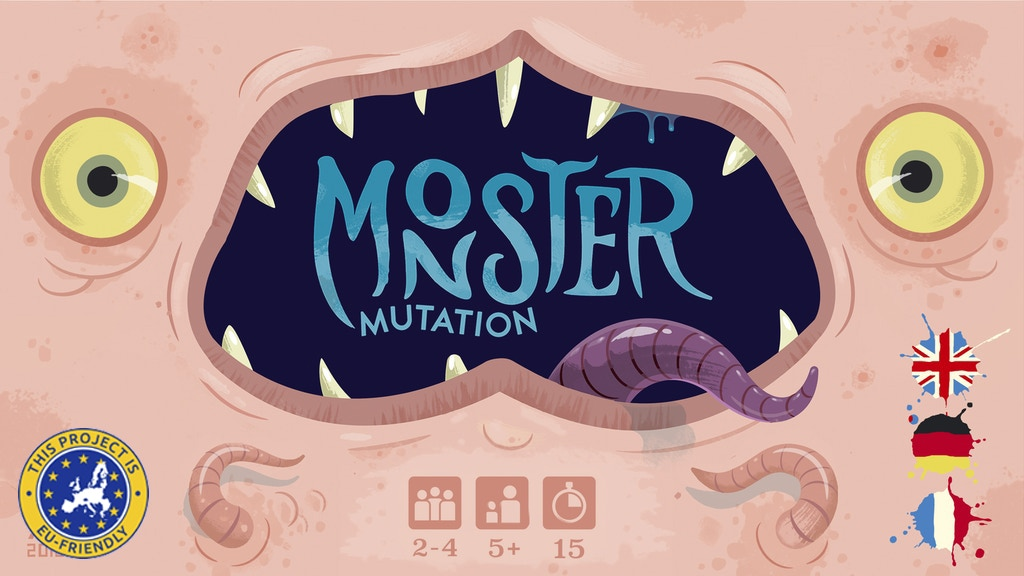 MONSTER MUTATION - Gross Creative monster building card game project video thumbnail