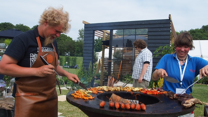 From when Haveselskabet officially awarded us best stand at CPH Garden. This is our favourite barbecue. Lot's os special moments to be had around this at the farm.