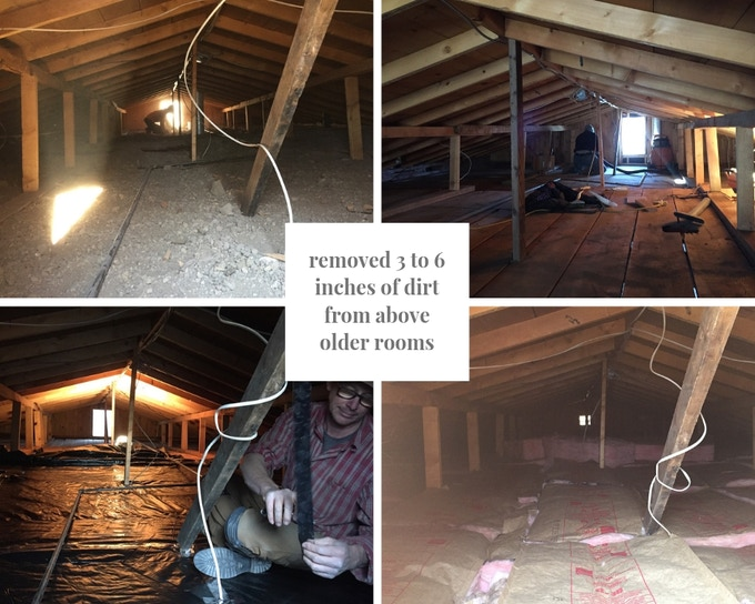 dirt roof removal