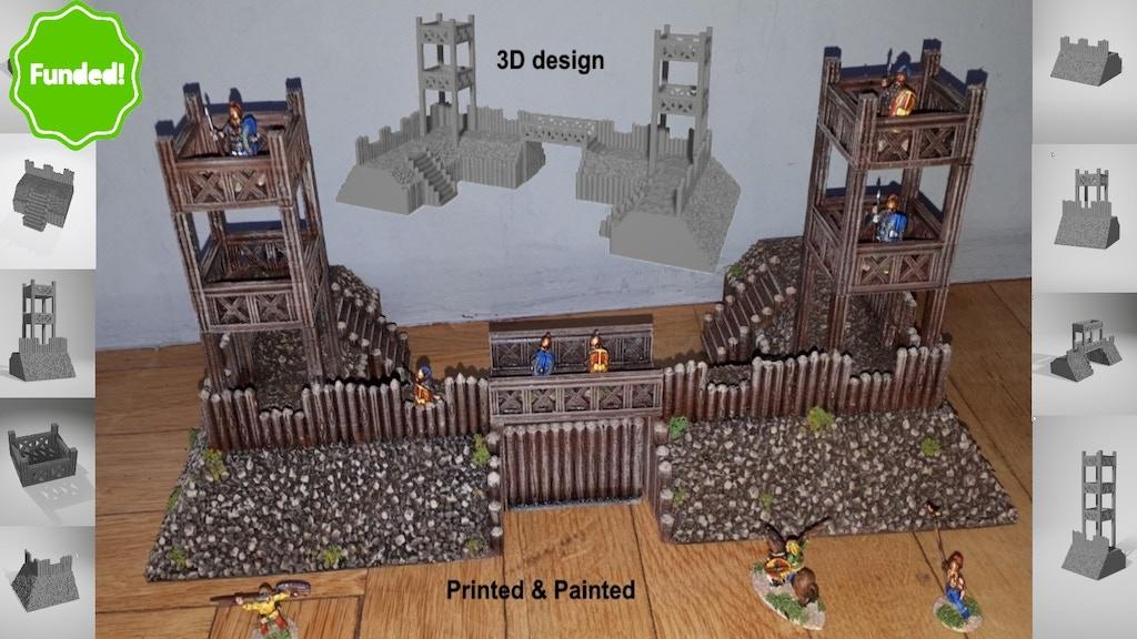 3D Printable Roman Fort project video thumbnail