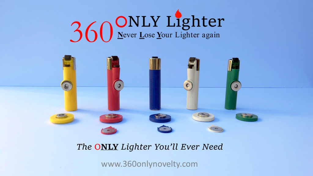 360 ONLY Lighter: Never Lose Your Lighter Again! project video thumbnail