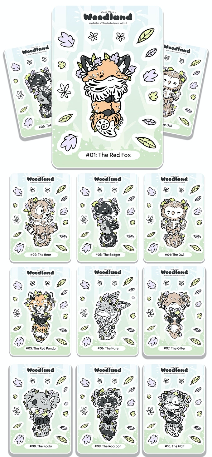The Once Upon a Woodland sticker sheet range :)