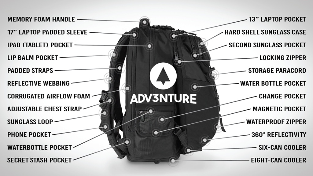 The ADV3NTURE 3-in-1 Backpack | With 32 features! project video thumbnail