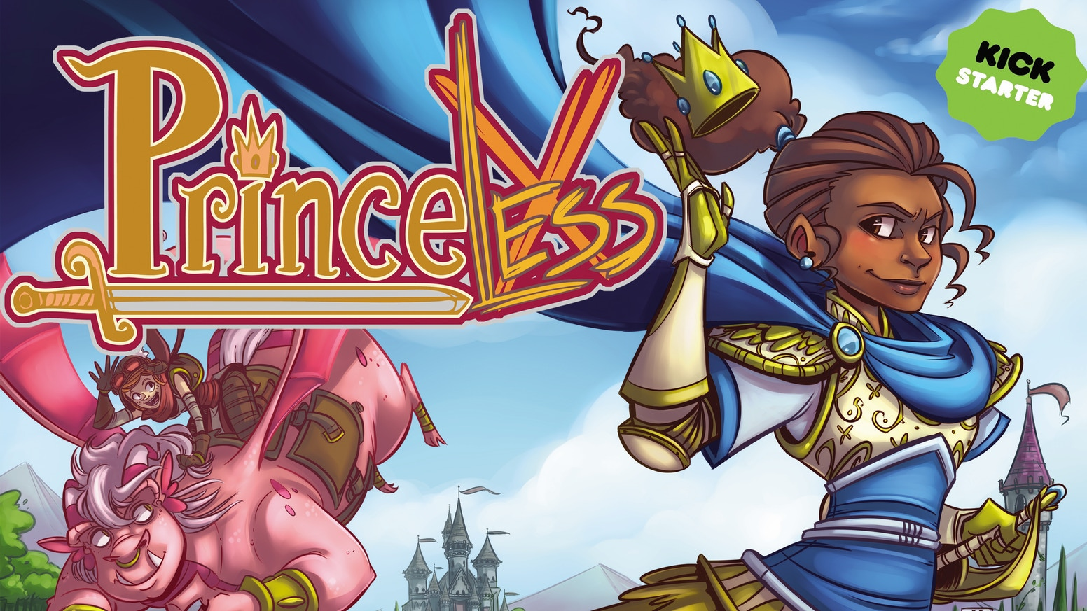 A deluxe hardcover for Princeless Book 3: the story that launched the critically acclaimed spinoff, Raven: Pirate Princess.