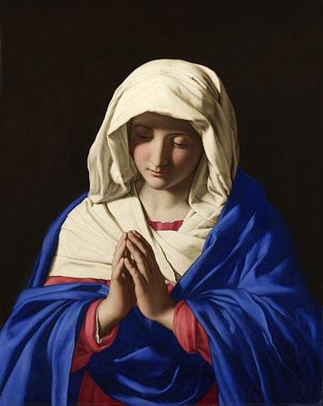 """""""Assoferrato- The Virgin in Prayer"""" nationalgallery.org.uk"""