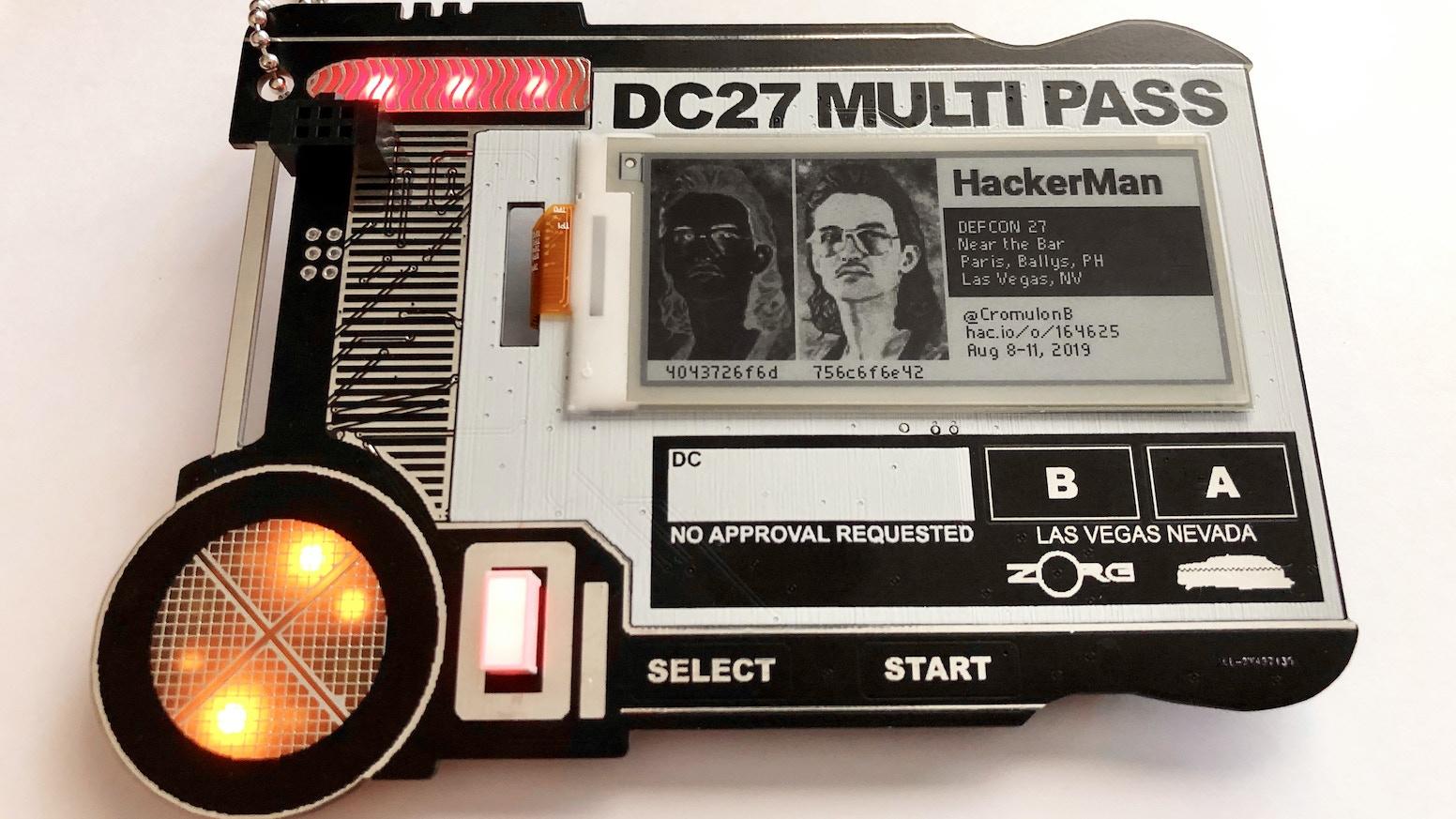 MULTI PASS / DEF CON 27 Indie Badge by Bliss Jourdan — Kickstarter