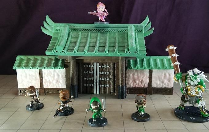 Japanese Wall Gate Miniature Terrain