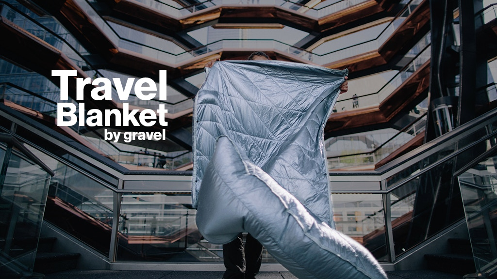 The Layover Travel Blanket is the most innovative travel product since the neck-pillow