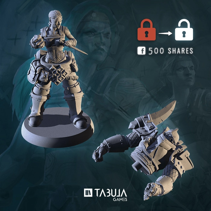 With 500 shares the miniature will be yours!