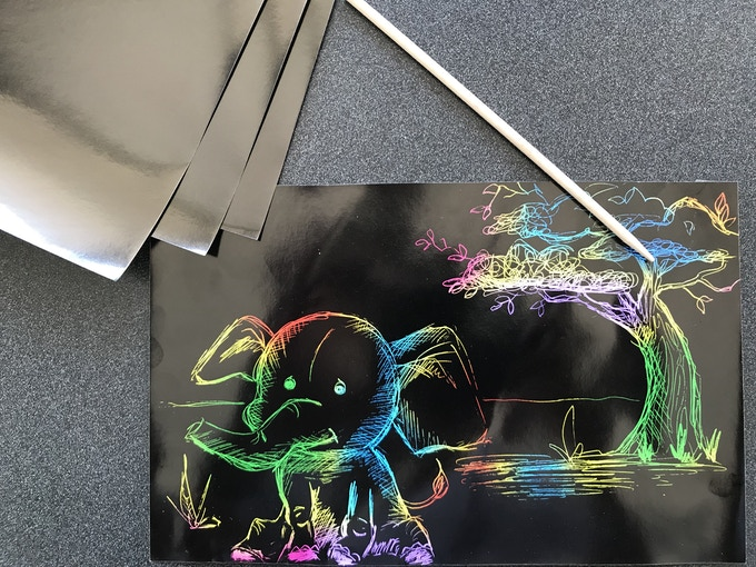 Pledge $10 and your child will receive a Rainbow Scratch Art Kit!