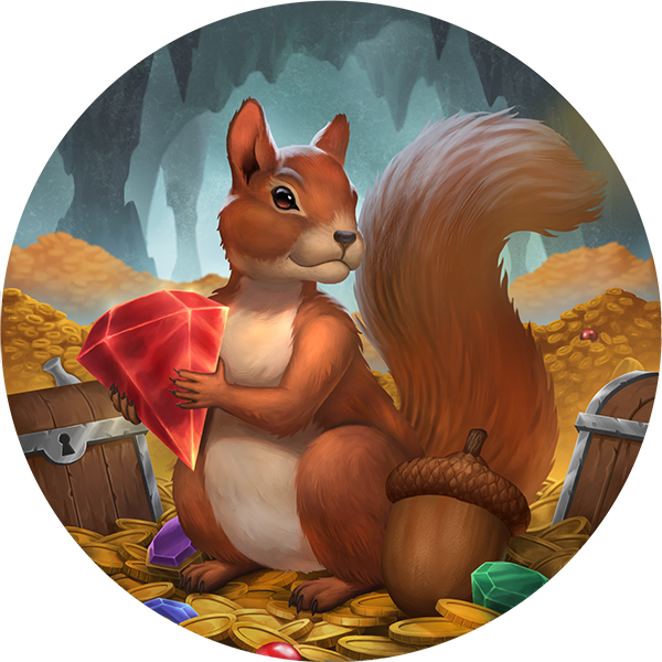 Artwork for the Squirrel Coin.  The coaster has not been made yet.