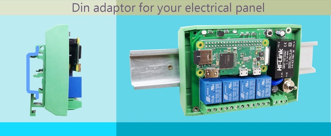 Install Strawberry4Pi Zero in your electrical panel with the DIN Adaptor.