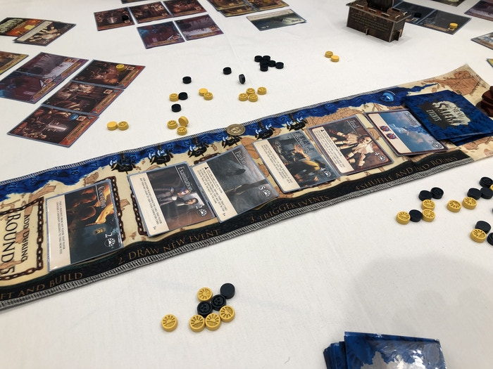 The pre-production copy in action this weekend at a Gamex Strategicon demo