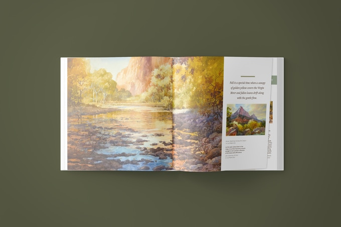 Just one of the stunning spreads in this 160 page book.