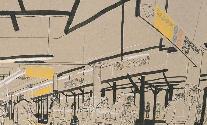 59th St station 1999 (detail)