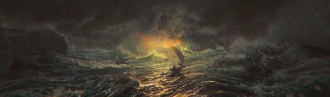 A Flame in a Hurricane - Physical Print 38 X 12