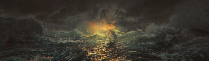 A Flame in a Hurricane - Physical Print 38 X 12