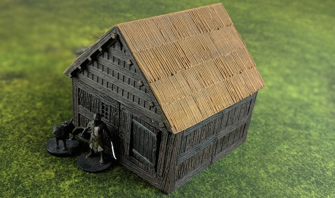 Thatched roofs give a different feel to buildings.
