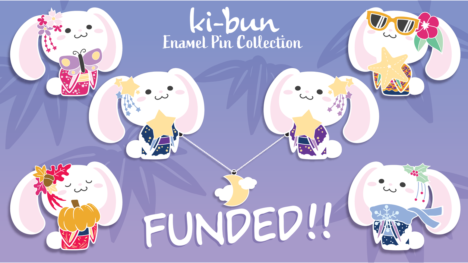 An enamel pin collaborative project between Merumori and her Mom!
