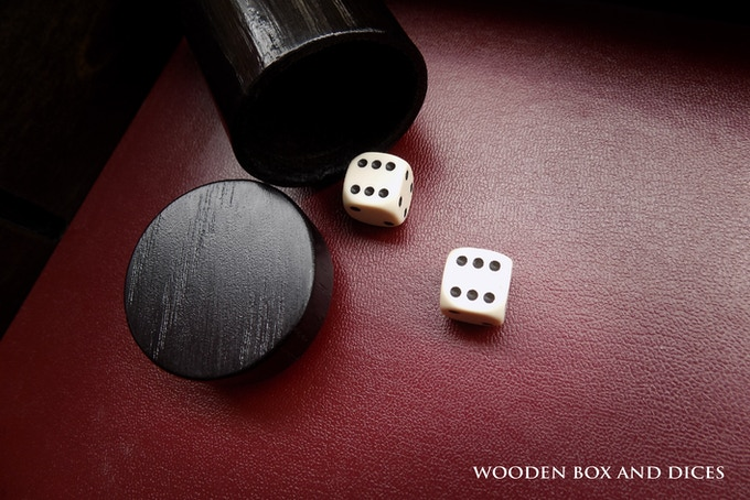 Each Master box includes high-quality acrylic dices along with a wooden box great for holding and rolling them.