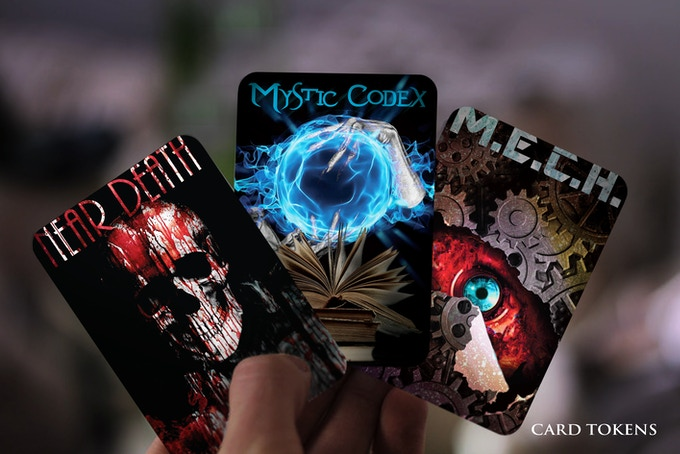 The 3 amazing themed plastic cards of high-quality PVC, printed on both sides, have excellent durability and can be used as card tokens for several fantasy games. Each Master box includes 3 cards of the same theme, depending on concept choice.