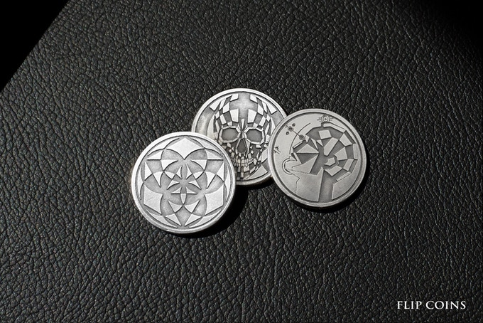 Each Master box includes one amazing themed flip coin, depending on concept choice.