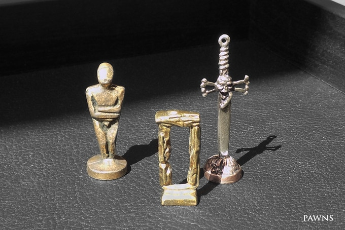 Each Master box includes one themed metal pawn, beautifully designed and unique handcrafted to use it in your games.