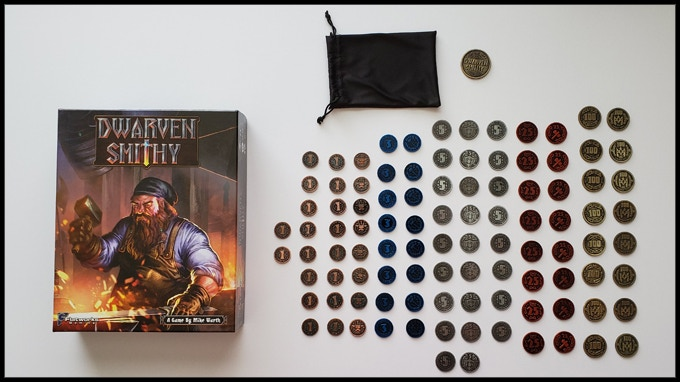 The final pledge level gives you 100 Metal coins in game denominations and includes the Dwarven Smithy Game.