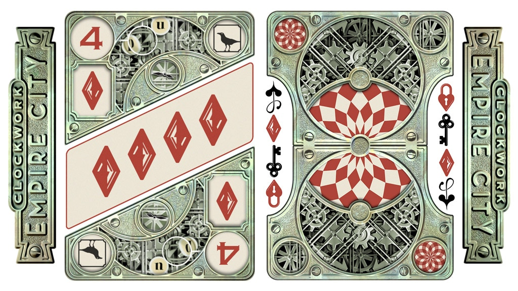 """Clockwork: Empire City"" Playing Cards USPCC Flip-Book project video thumbnail"