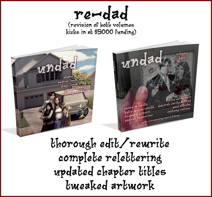 If we reach $5000 funding, I'll revise and re-release Undad and Undad Vol 2!