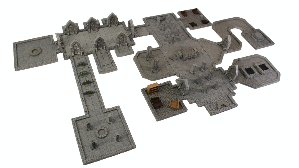 Stackable Modular Magnetic Terrain for tabletop RPGs project video thumbnail