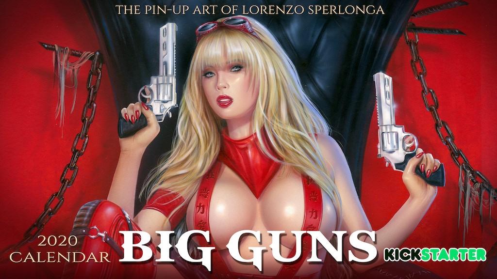 BIG GUNS - 2020 pin-up art calendar project video thumbnail