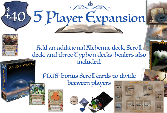 *This expansion adds one extra player to your game play and some bonus content; it is an add-on, not an entire edition for 5 players.