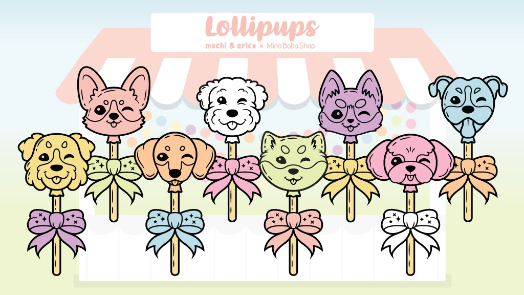 Project image for Lollipups Enamel Pin Collection - Mochi & Erica x MinoBoba