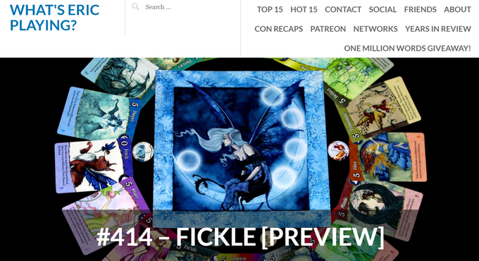"Read ""What's Eric Playing"" review of Fickle and amazing photos!"