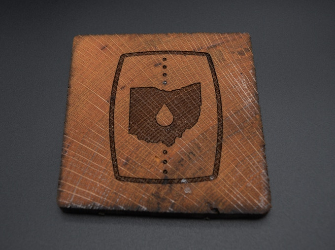 Wood-Burned Coaster