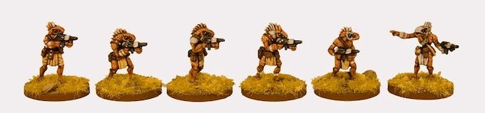 RAP016 Ikwen Militia With Assault Rifles painted by Einar Olafson
