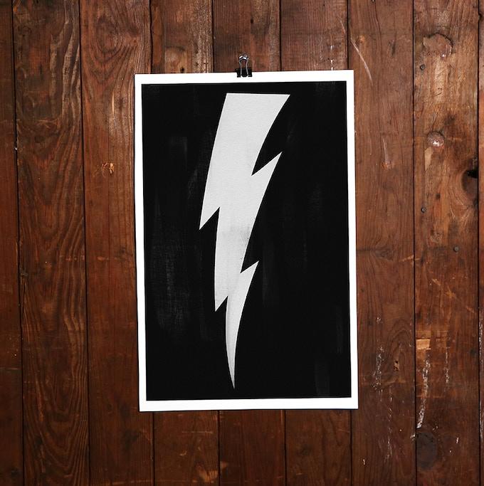 "Lightning Bolt Signed Limited-Edition Print 11x17"""