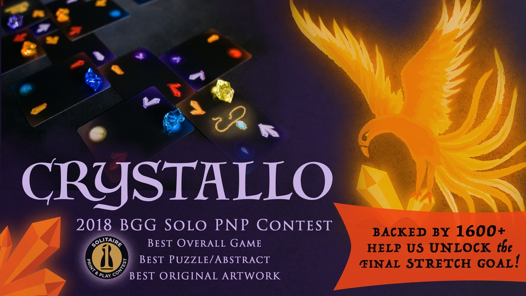 CRYSTALLO: the award-winning solitaire puzzle game project video thumbnail