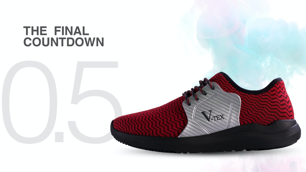 V-TEX: The Ultimate 100%Waterproof Vegan Nanotech Knit Shoes project video thumbnail