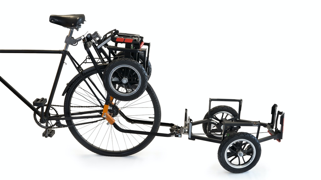 Trenux - a foldable trailer for your bicycle project video thumbnail