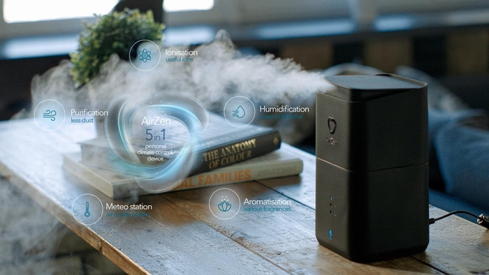 AirZen   Personal Climate Control Device 5 in 1: Humidifier, Purifier, Ionizer, Aroma Diffuser, Air Quality Station via APP   MUST-HAVE 2019