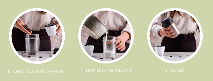 How to use the Hot Chocolate Shaker