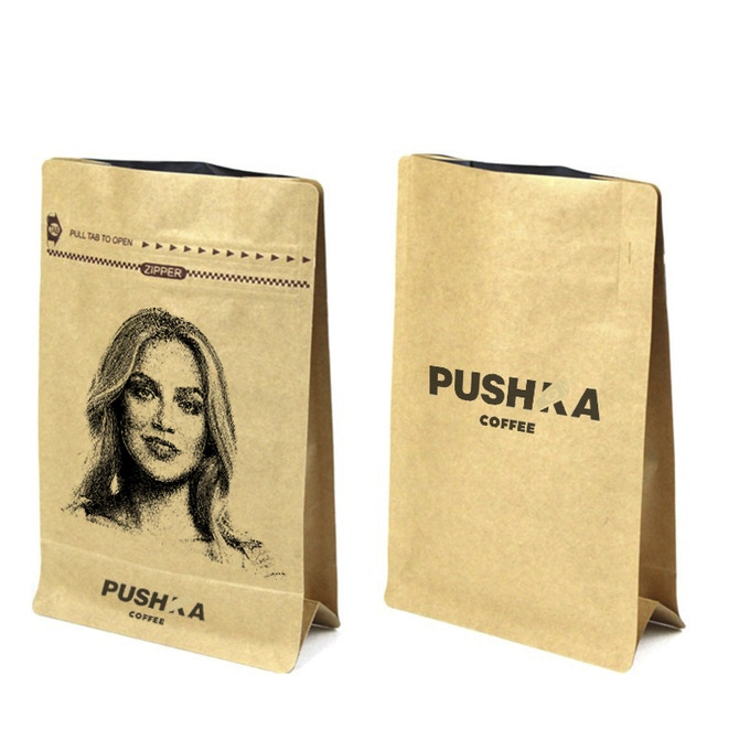 «Pushka coffee» Brand Bag of coffee beans